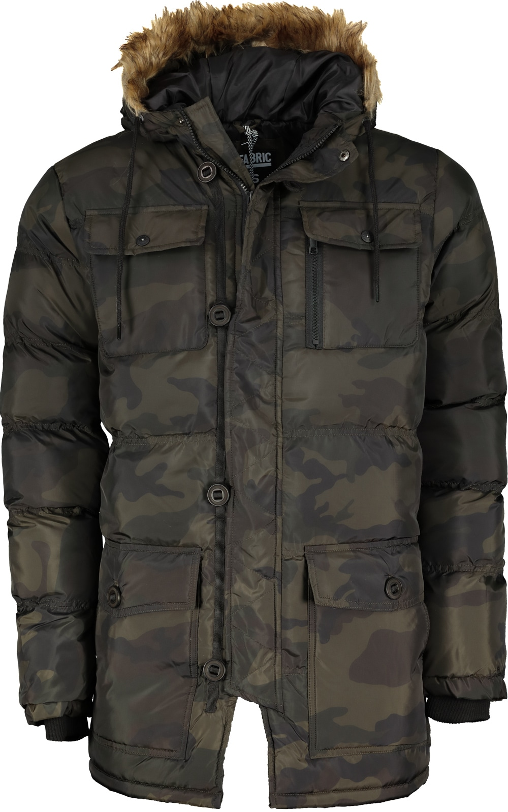 Fabric Camo Puffer Sn96 pánska bunda