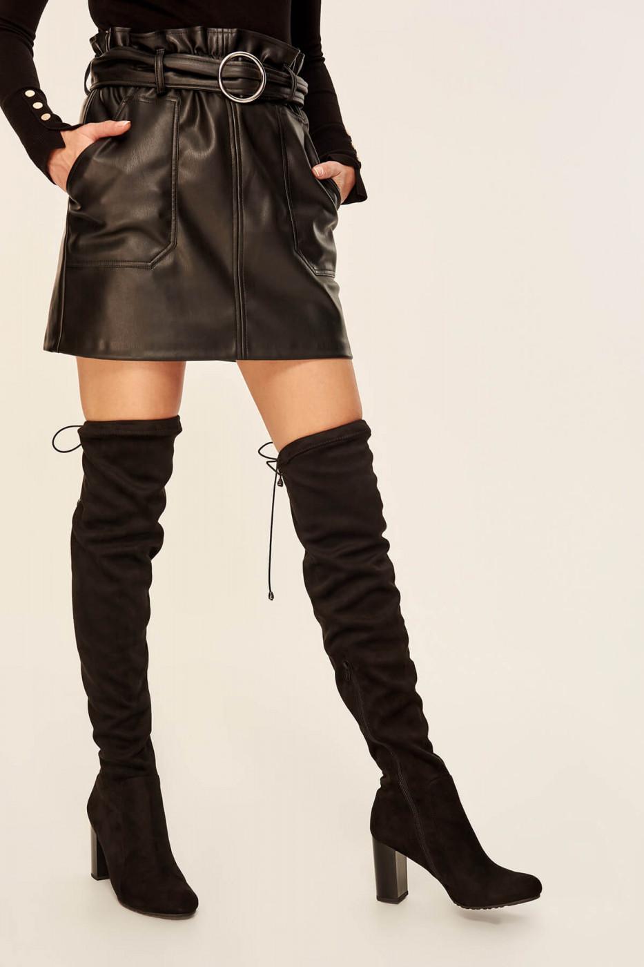 Trendyol Black Suede Women Boots
