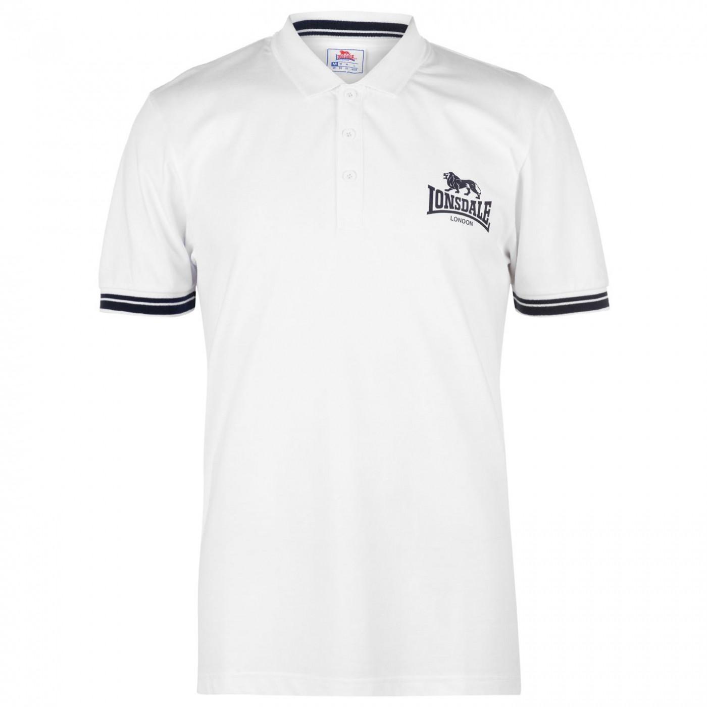 e4ab9a43a66d Lonsdale 2 Stripe Jersey Polo Shirt Mens - FACTCOOL