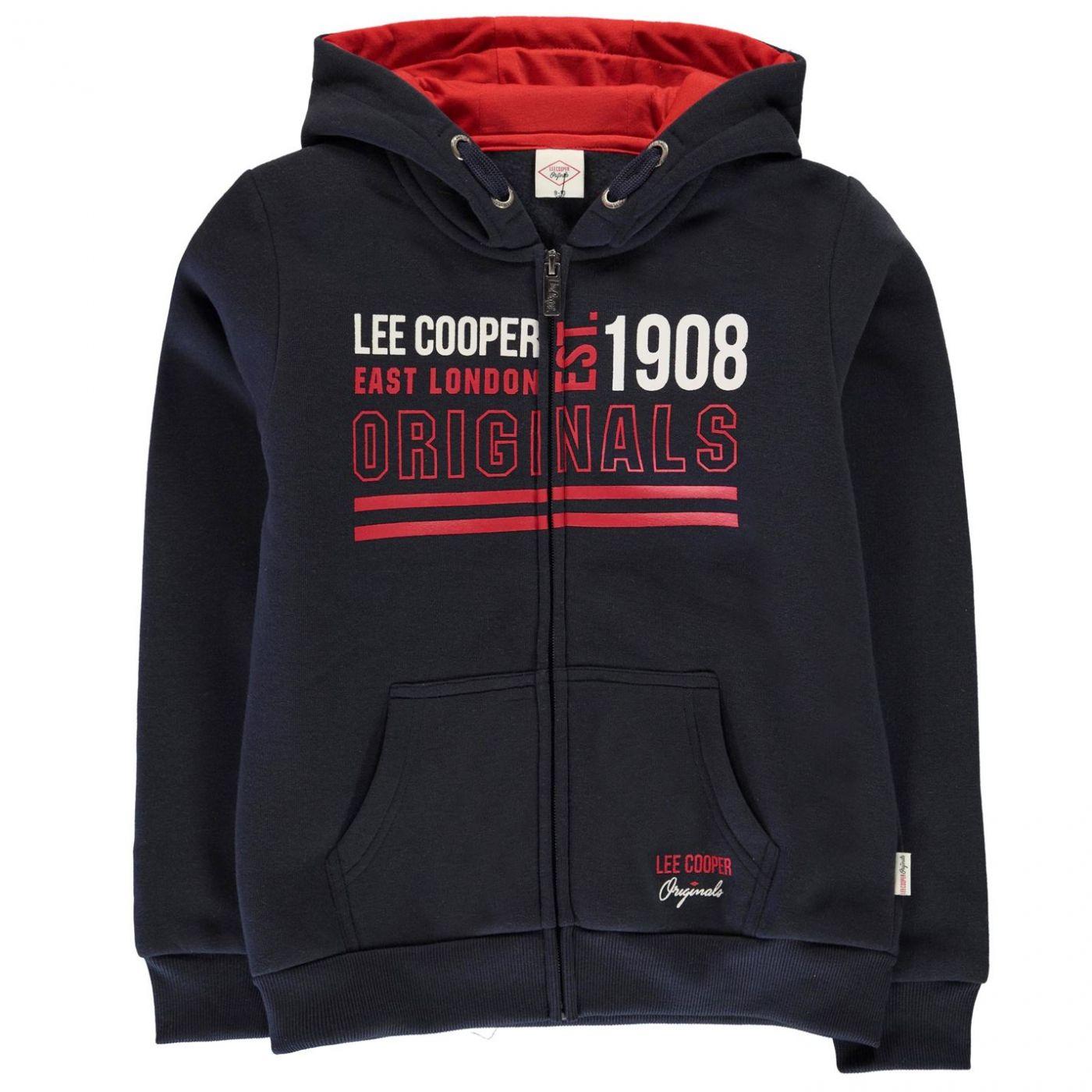 Lee Cooper Bright Zip Hoodie Junior Boys