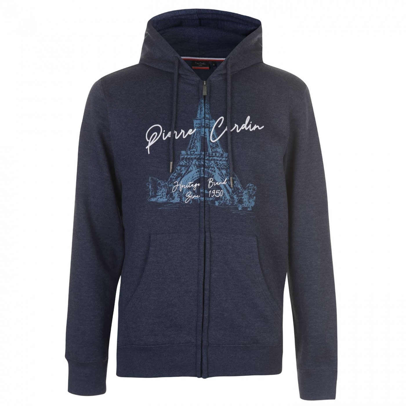 Pierre Cardin Printed Zip Up Hoodie Mens