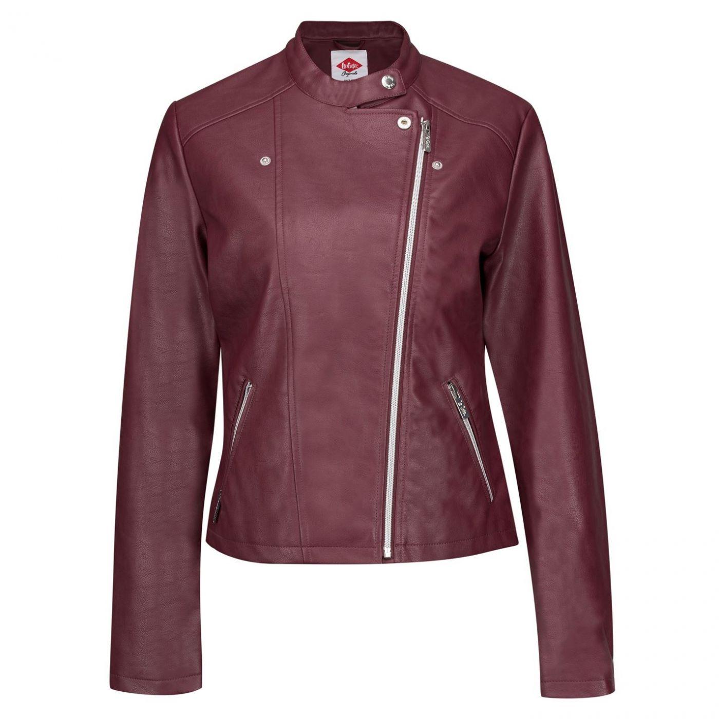 Lee Cooper PU Biker Jacket dámské