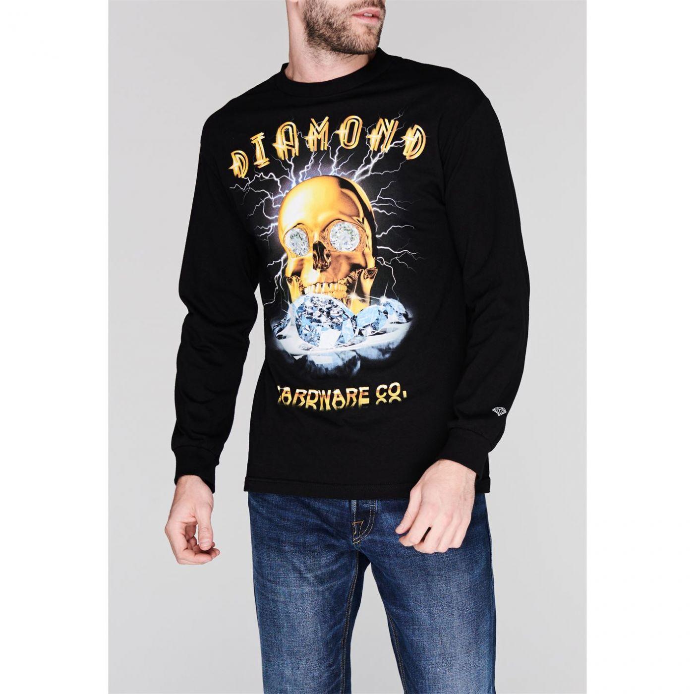 Diamond Supply Co. Gold Skull Long Sleeve T-Shirt