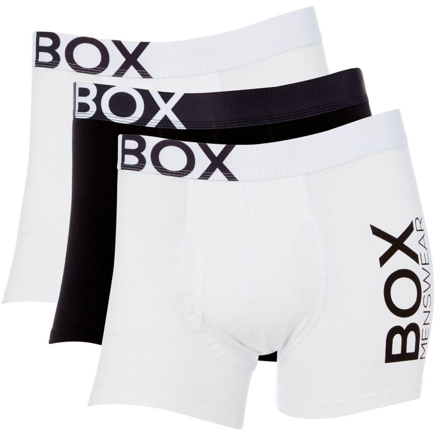 Box Menswear 3PK Logo Waistband Trunk