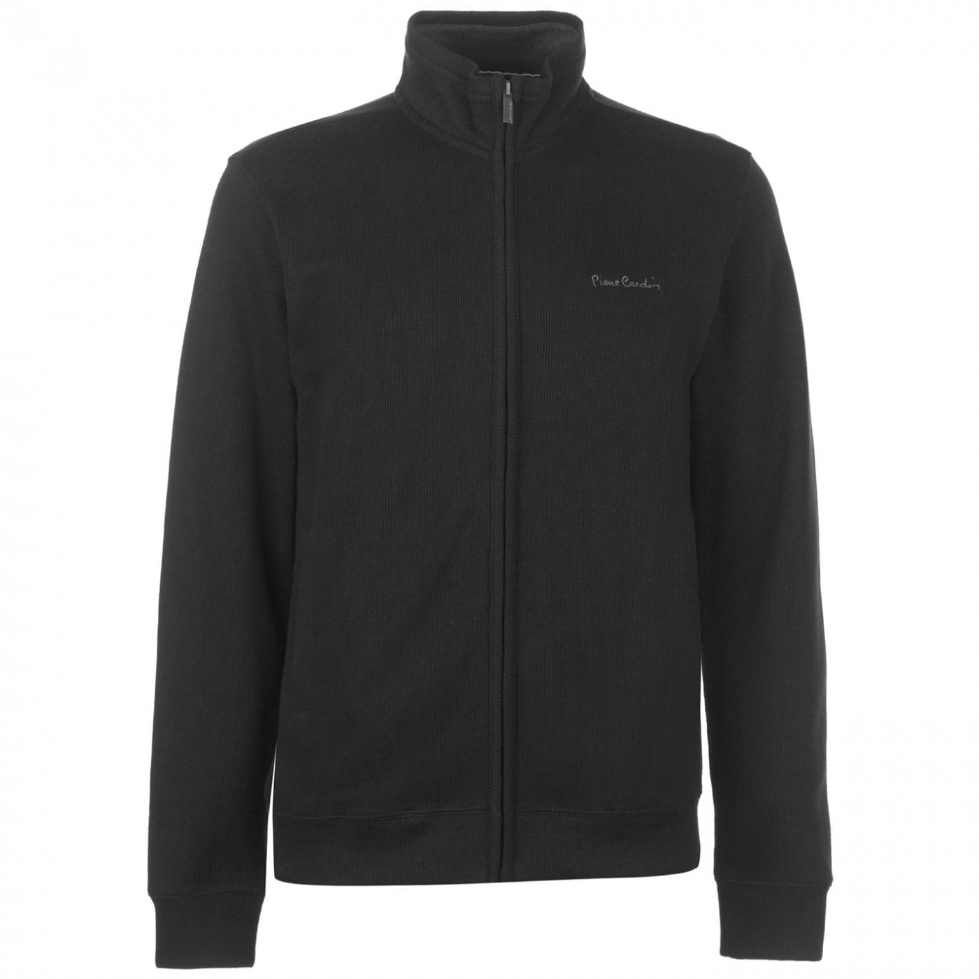 Pierre Cardin Full Zip Ribbed Knit Mens