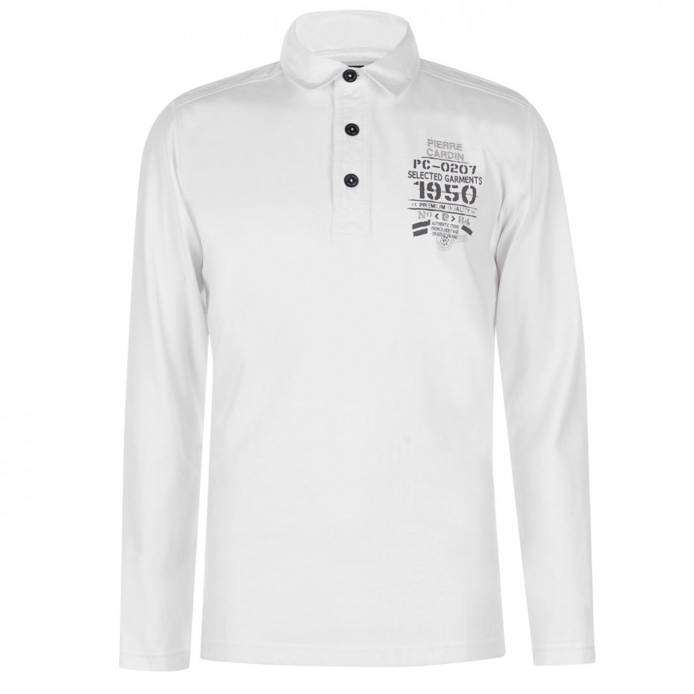 Pierre Cardin Long Sleeve Polo Shirt Mens