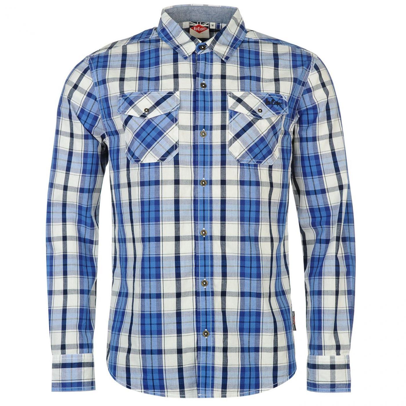 465f337a2ec0b Lee Cooper Long Sleeve Check Shirt pánské - FACTCOOL