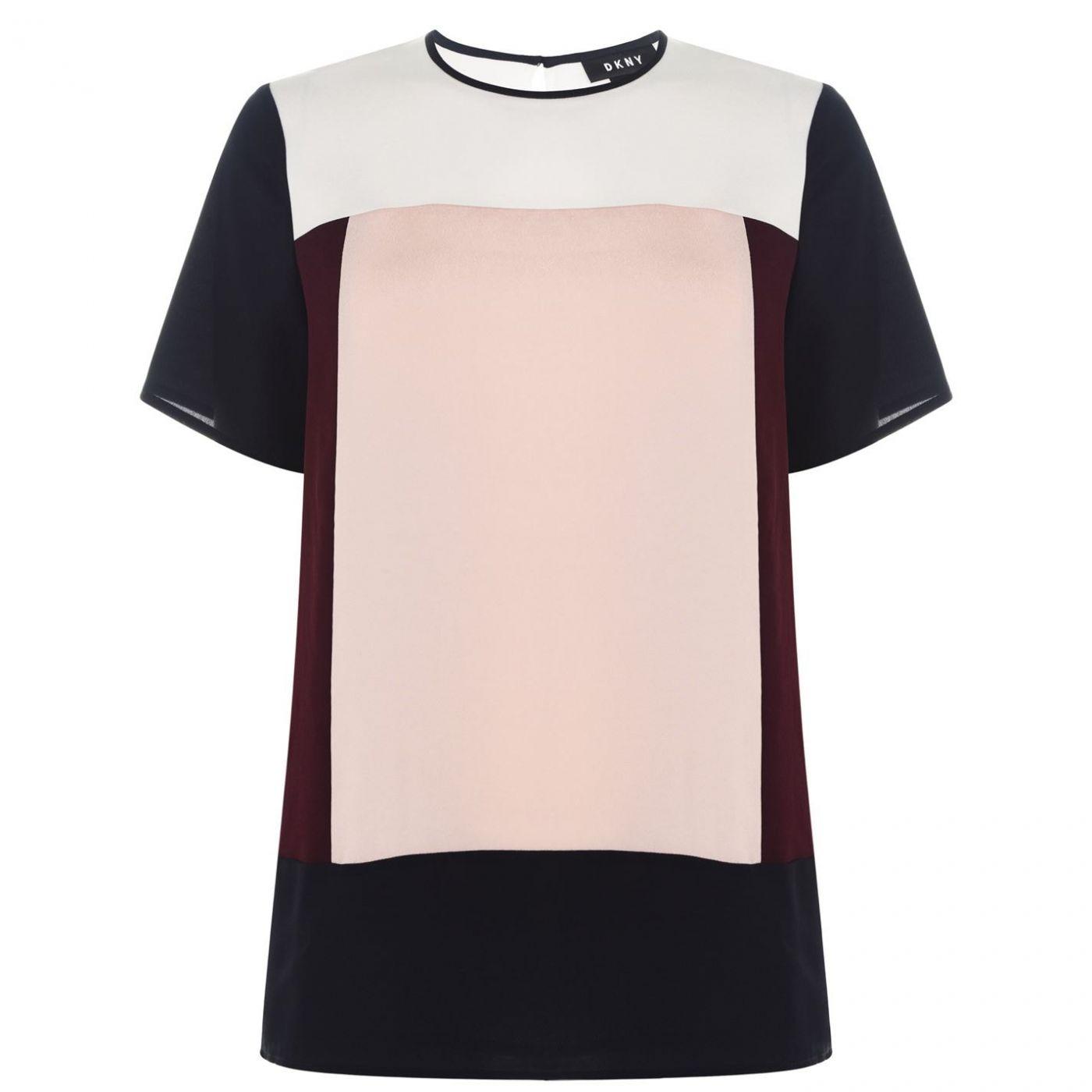 DKNY Short Sleeve Colour Block T Shirt