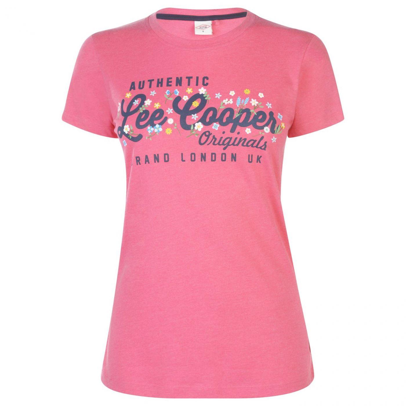Lee Cooper Large Logo Fashion T Shirt Ladies