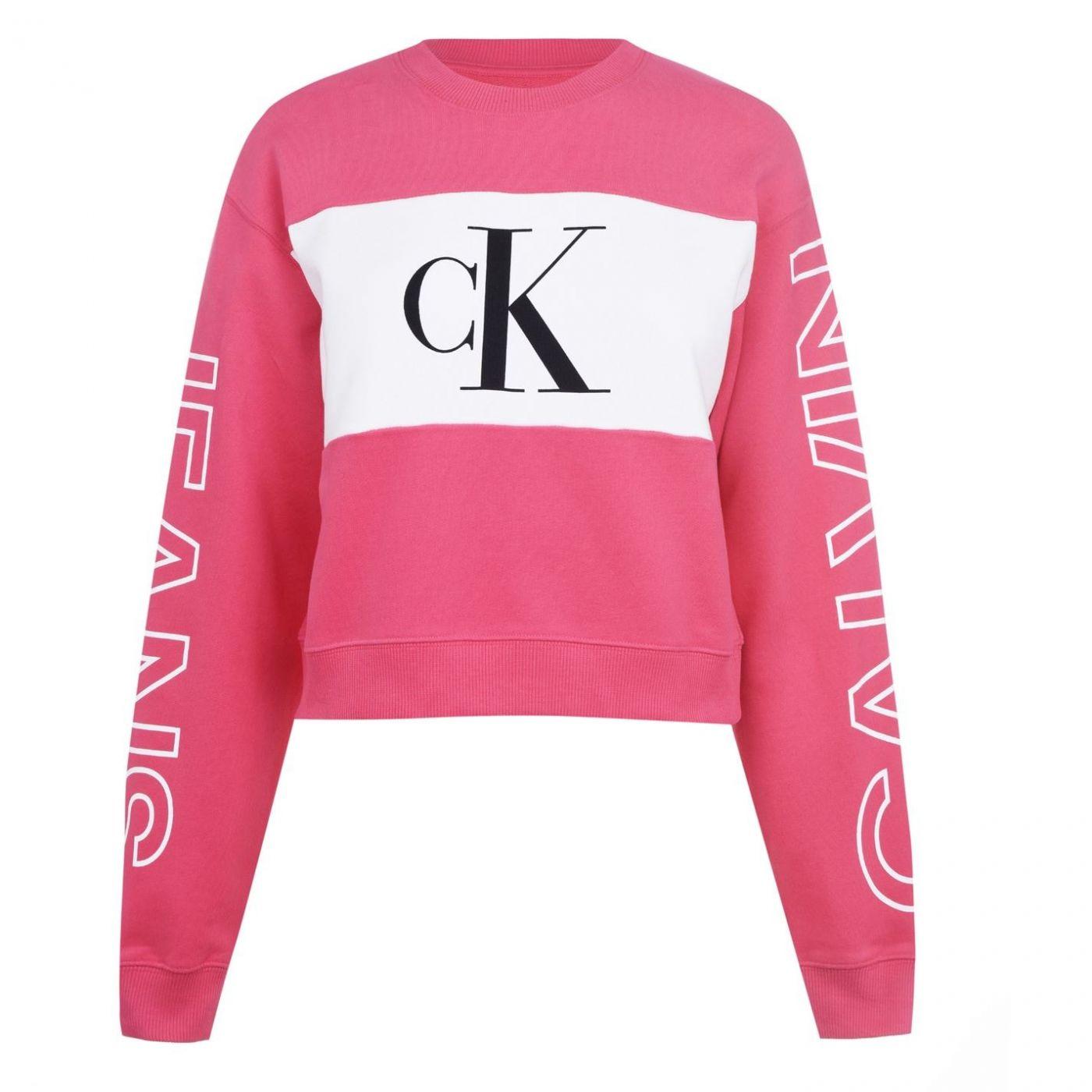 Calvin Klein Jeans Statement Logo Crew Sweatshirt