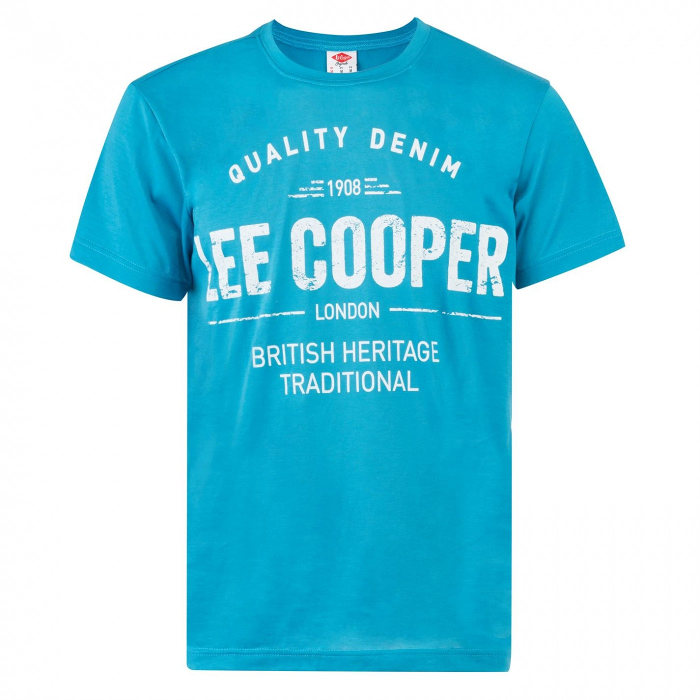 Lee Cooper Large Logo Print T Shirt Mens