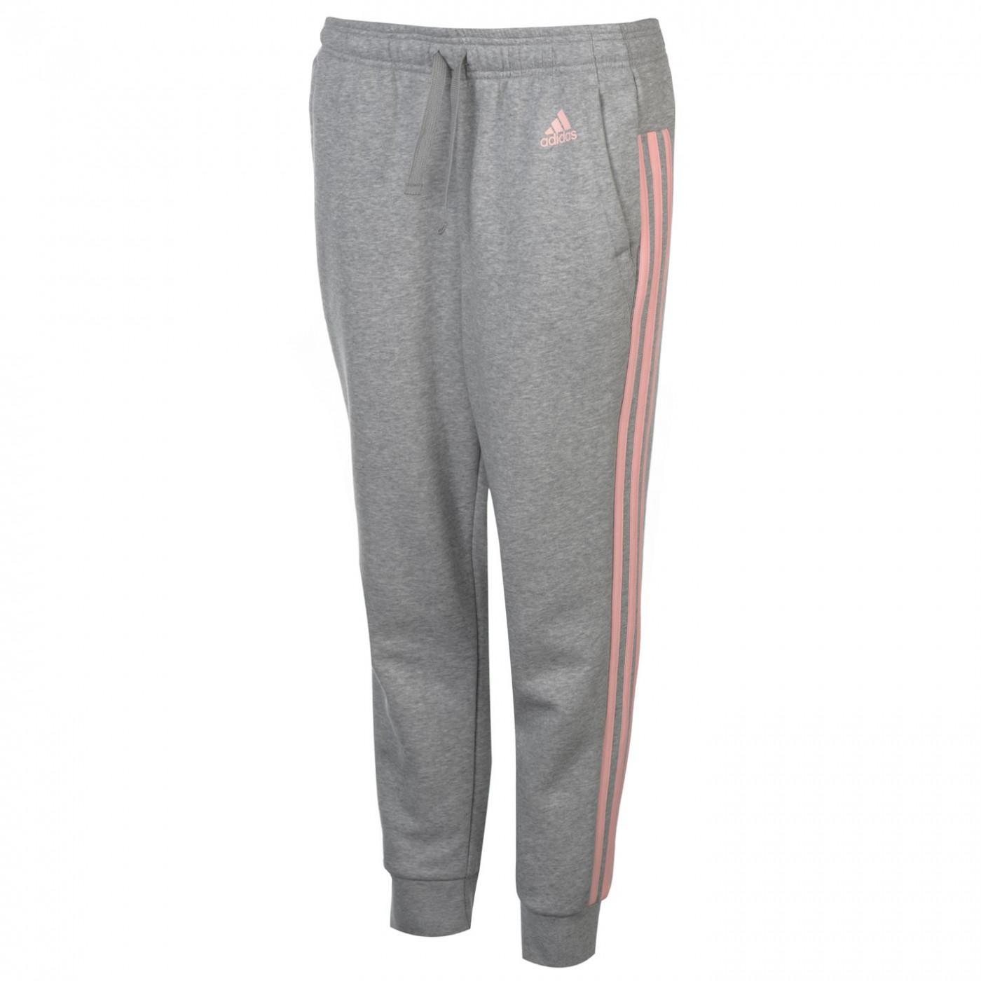 Adidas Essential 3 Stripe Closed Hem Pants Ladies