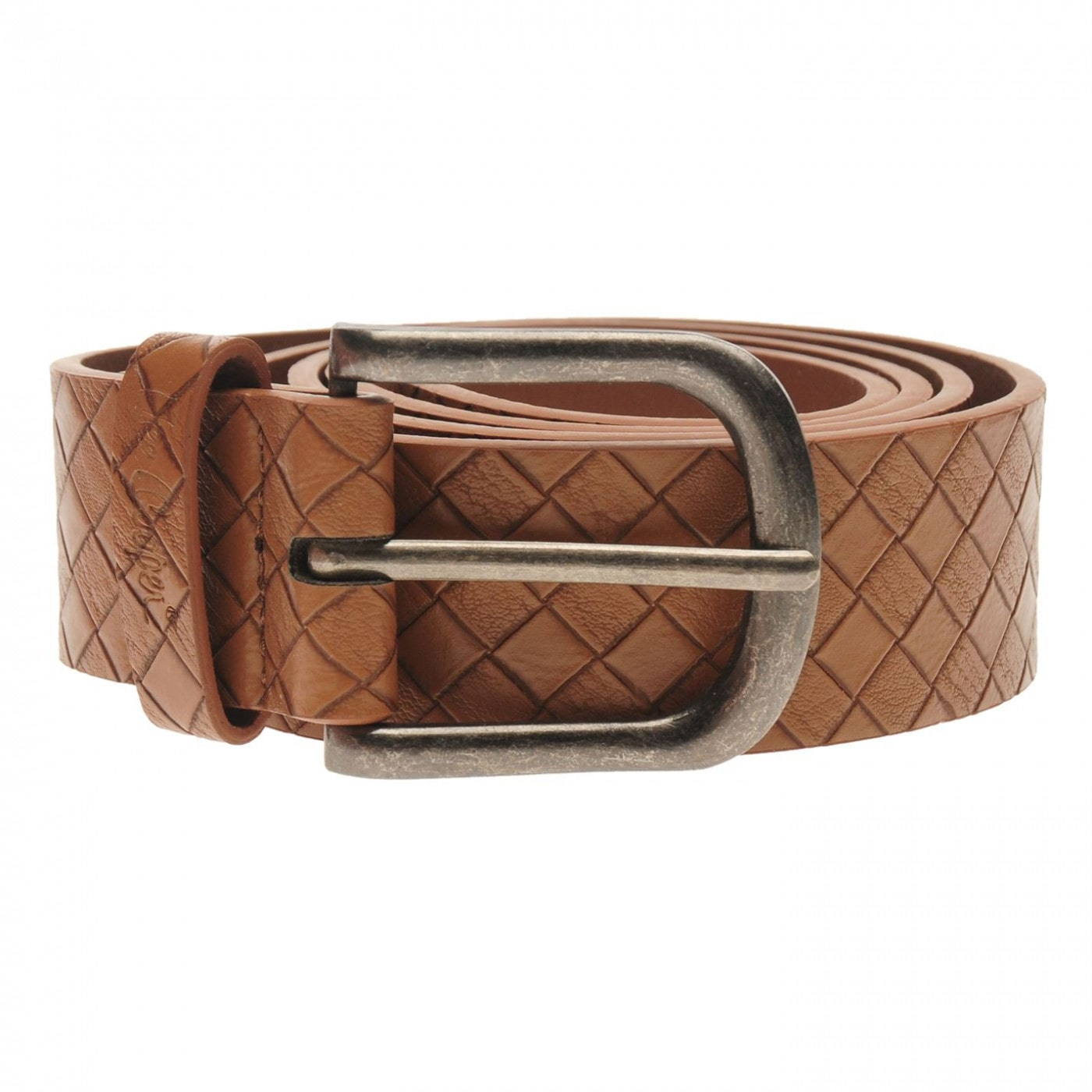 Lee Cooper Checker Belt Mens