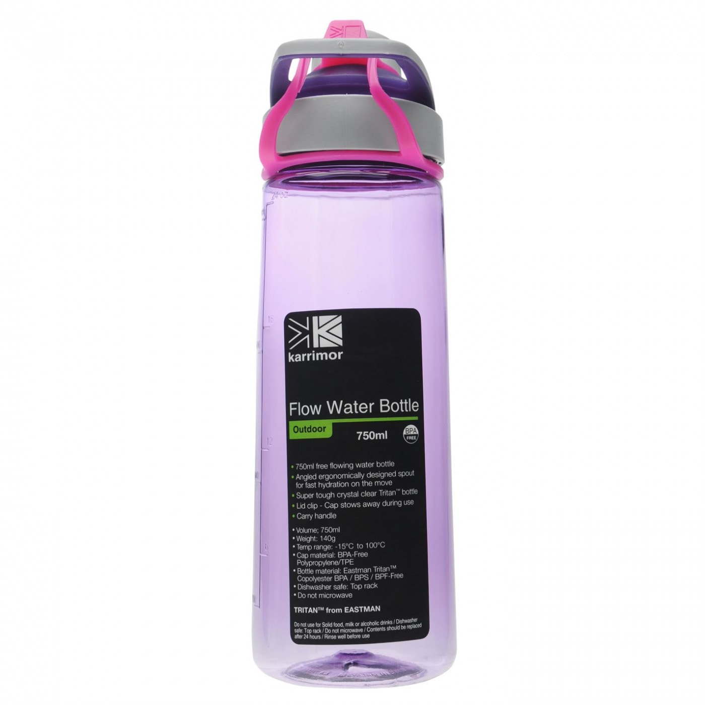 Karrimor 750ml Flow Water Bottle