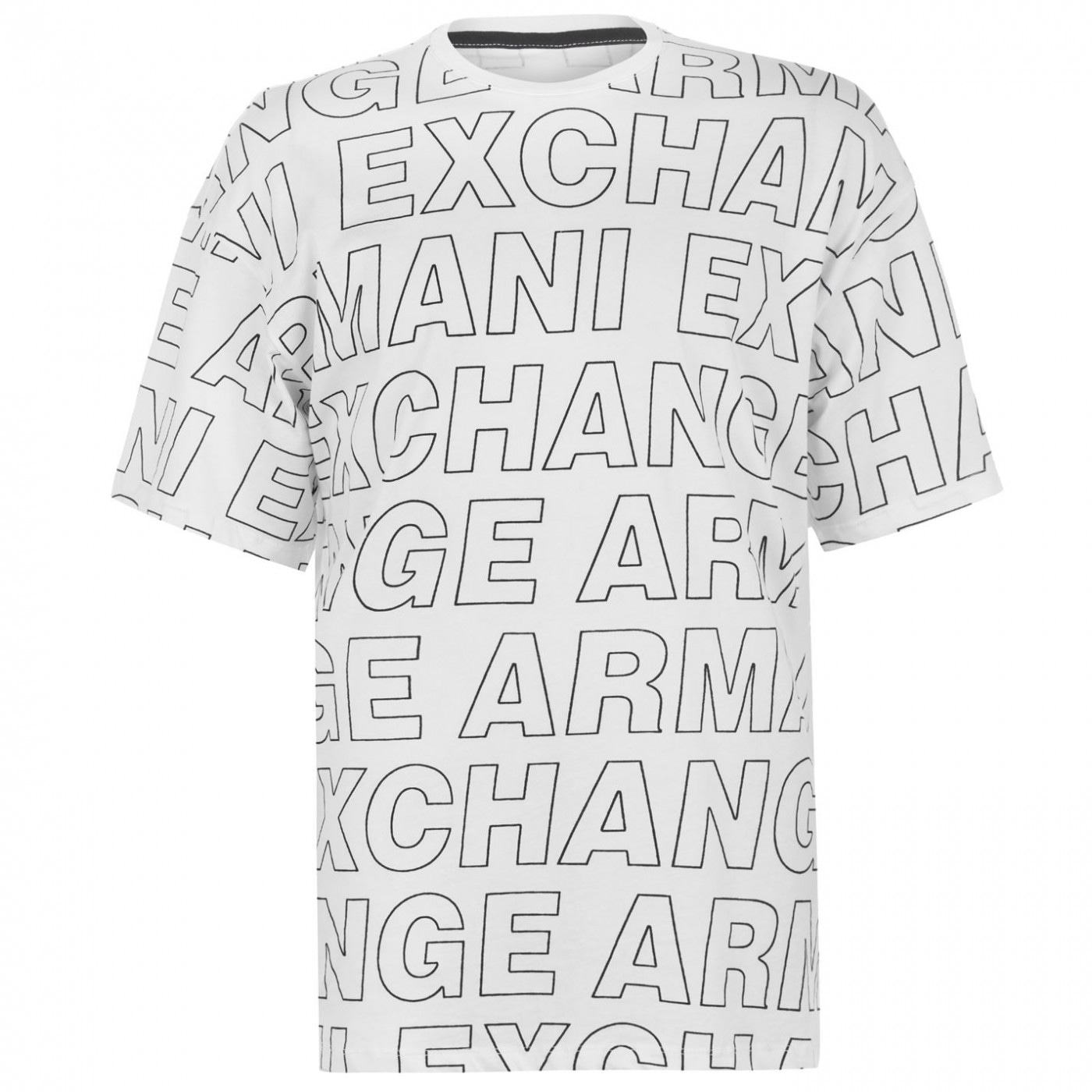 ARMANI AX All Over Logo T Shirt