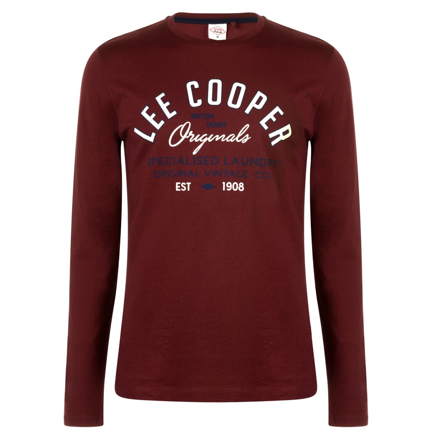 Men's T-Shirt Lee Cooper Long Sleeve Vintage