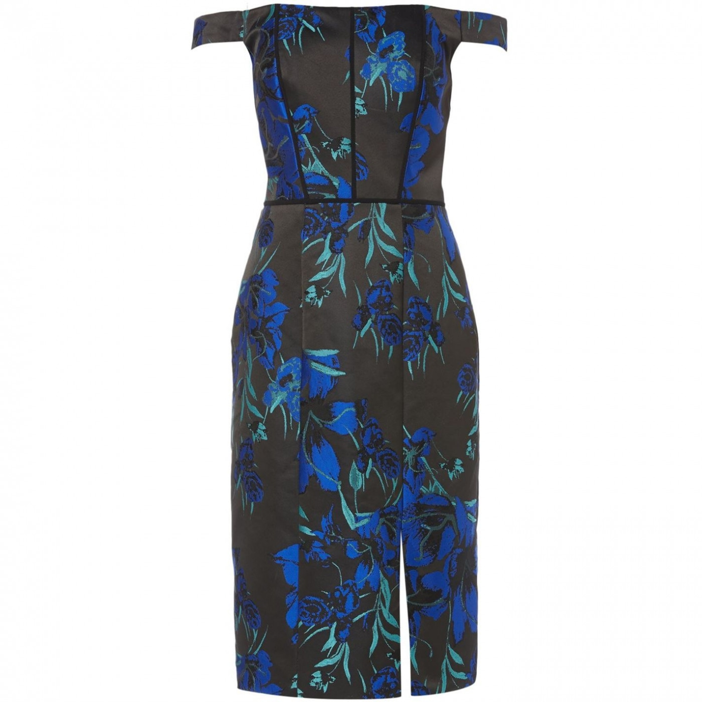 JS Collections Midi shift dress with tropical floral print
