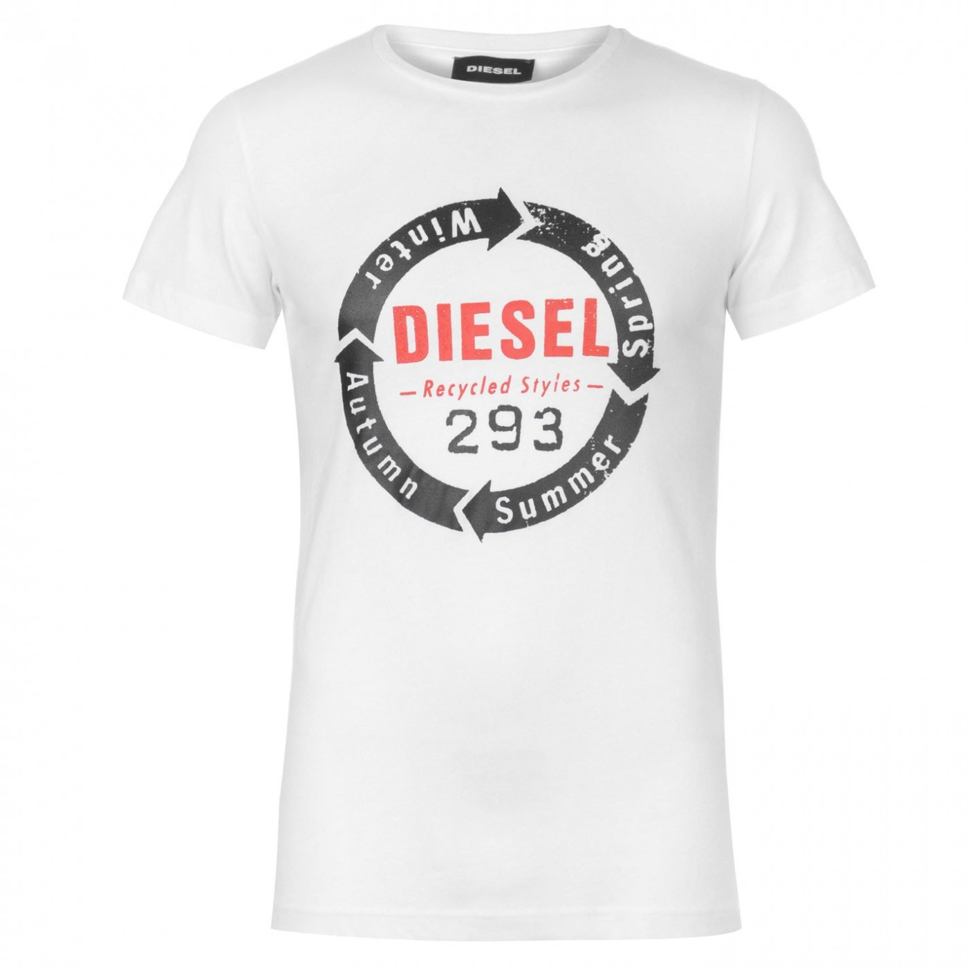 Diesel Short Sleeve Circle Logo T Shirt