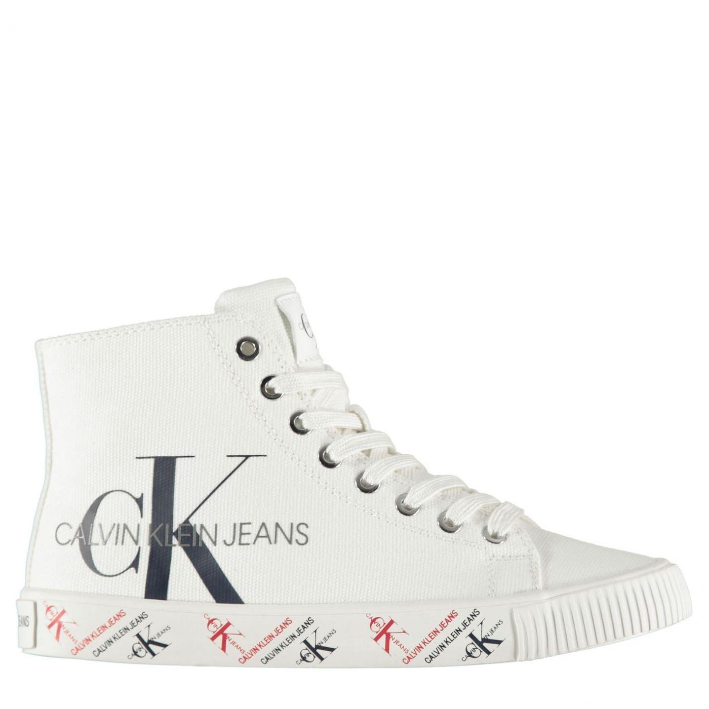 Calvin Klein Jeans Canvas High-Top Trainers