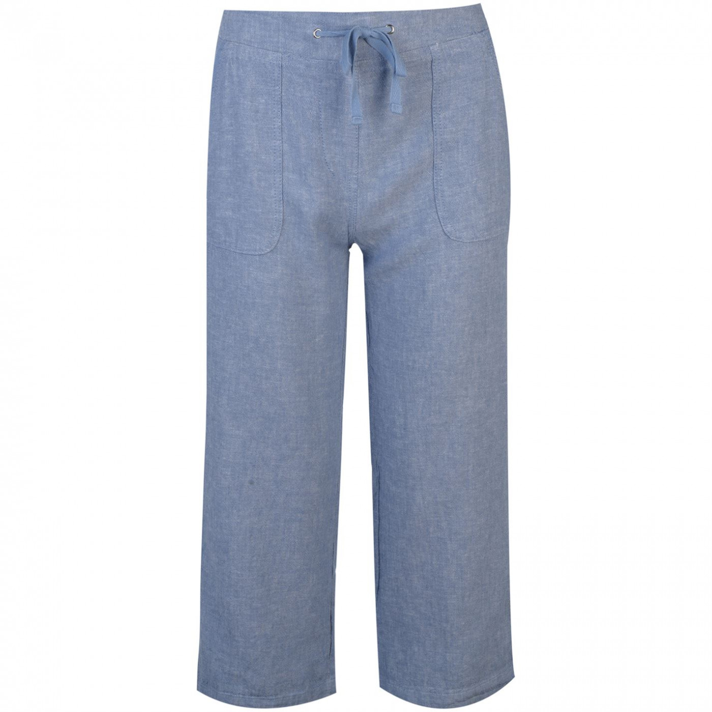 Full Circle Linen Cropped Trousers Ladies