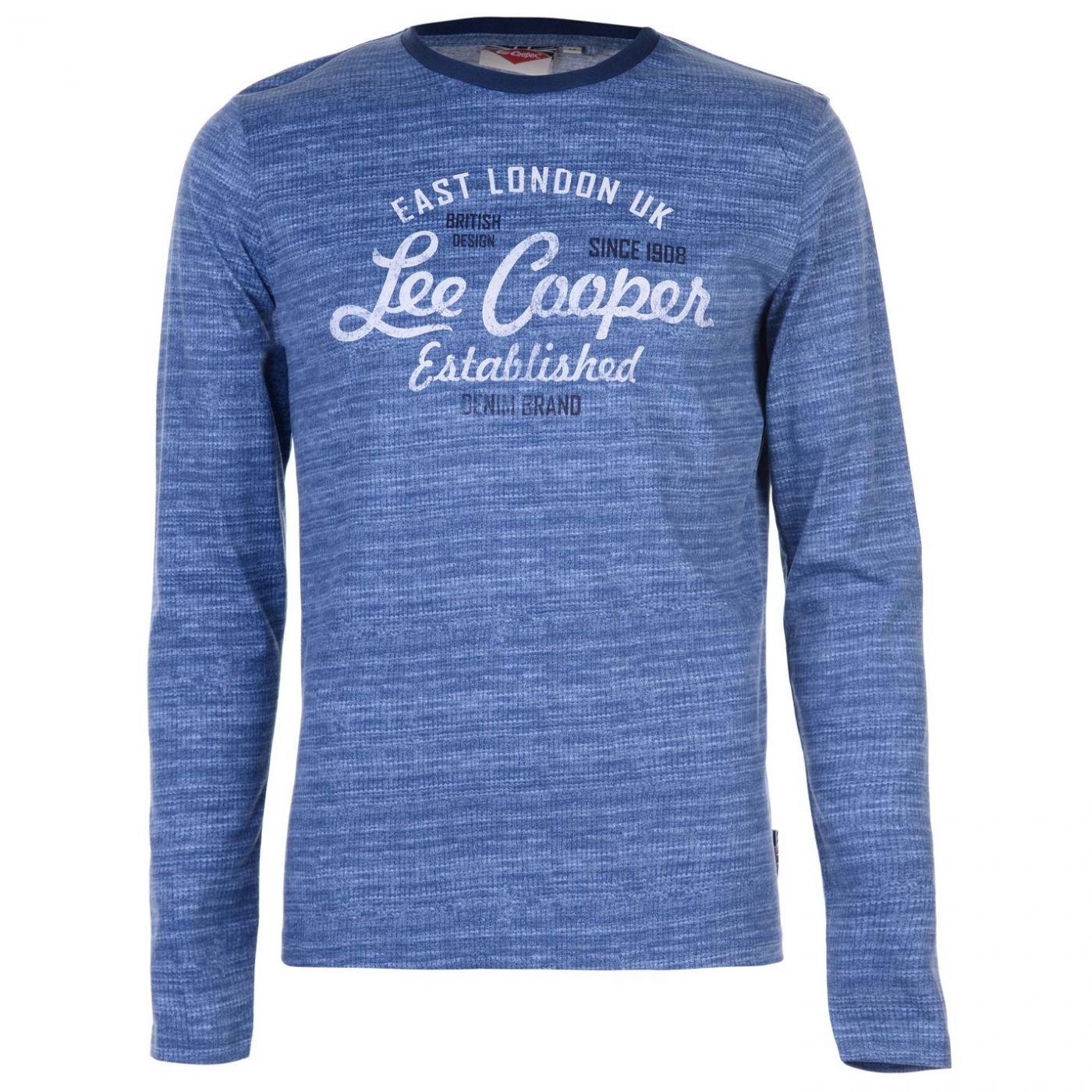 1ece7ae74a77 Triko Triko Lee Cooper LS AOP Textured T Shirt pánské - ALIATIC