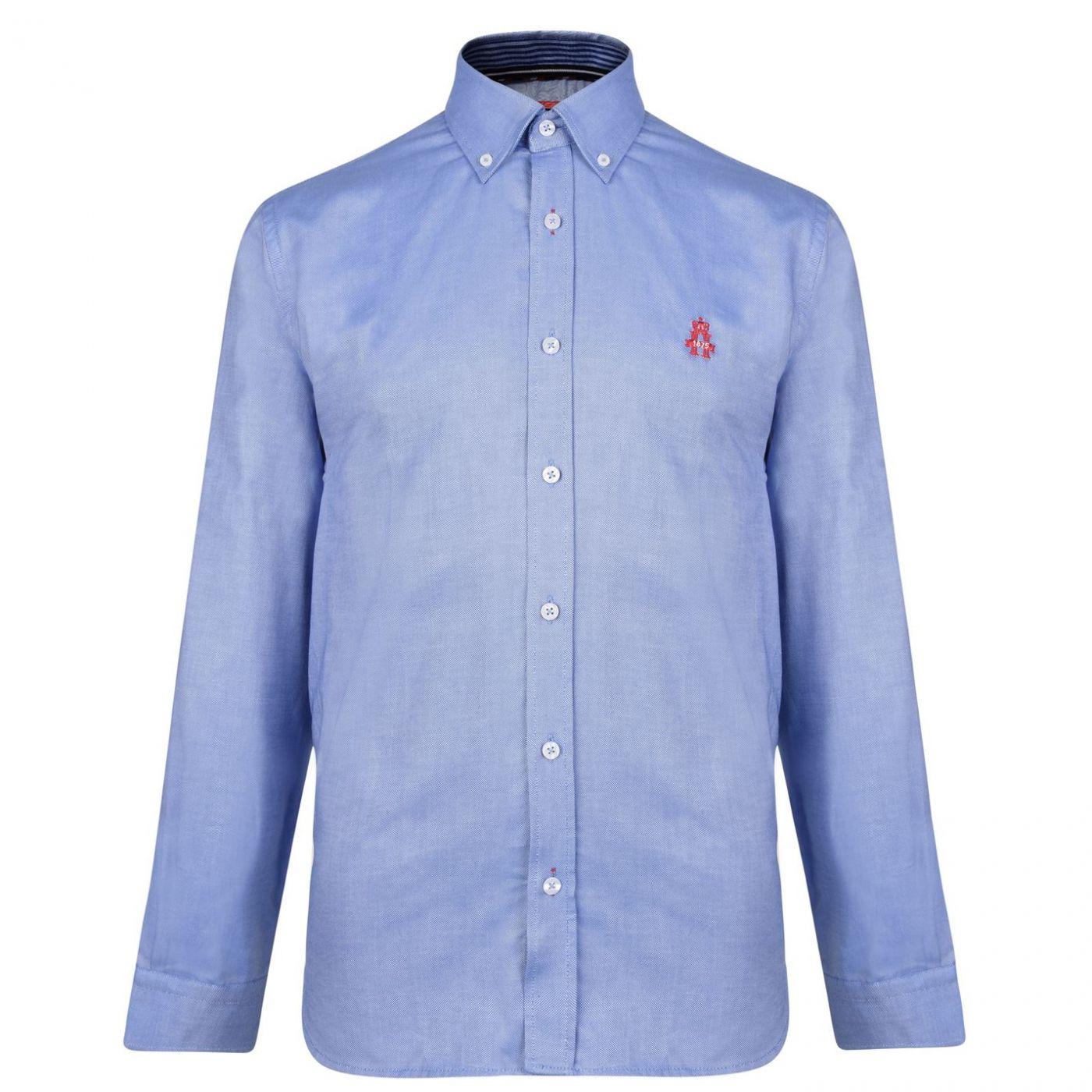 Hurlingham Polo 1875 Royal Oxford Long Sleeved Shirt