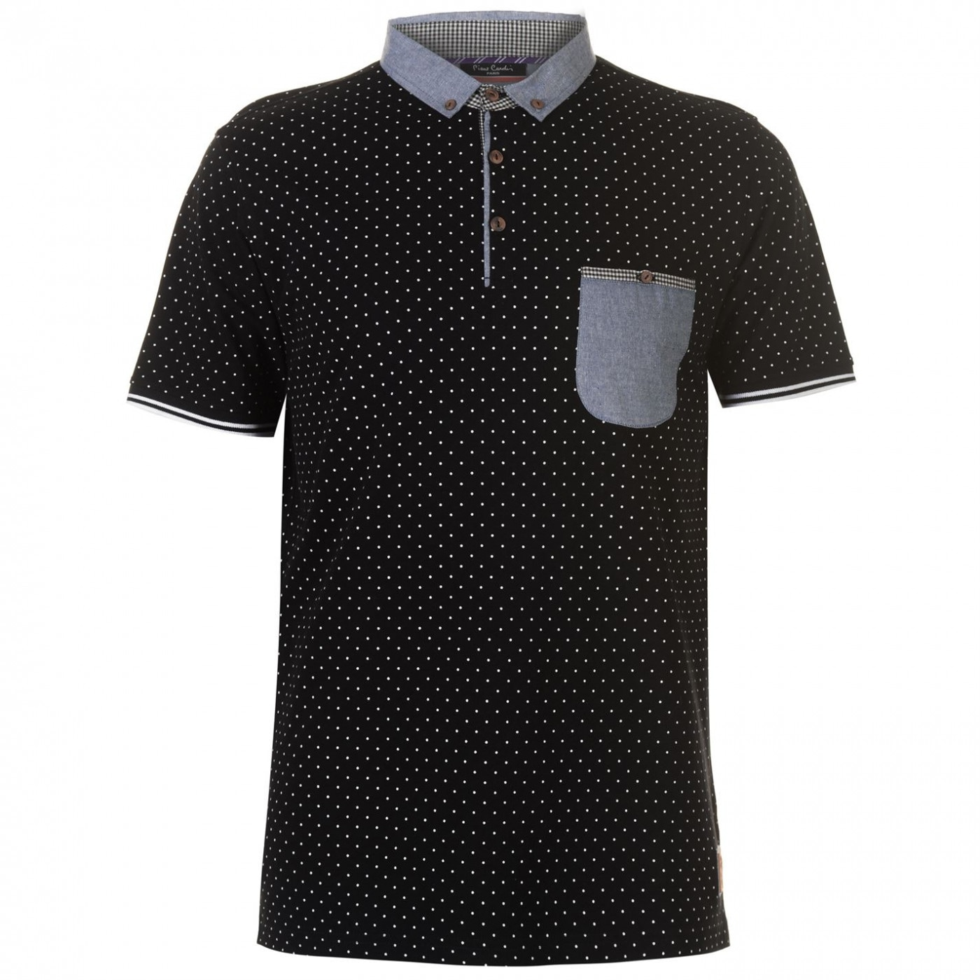 Pierre Cardin AOP Trim Polo Mens