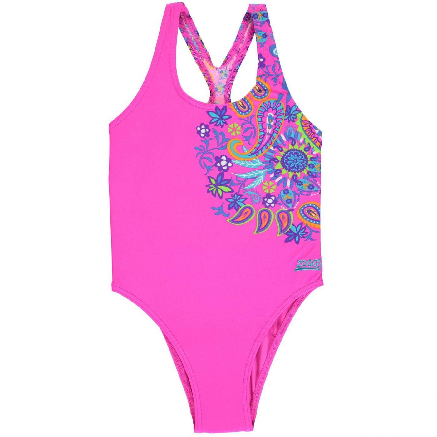 Zoggs Bold Baroque Rowleeback Swimsuit Junior Girls