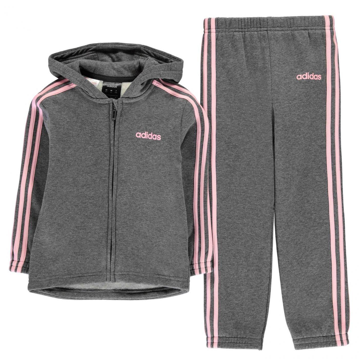 Adidas 3 Stripe Tracksuit Infant Girls