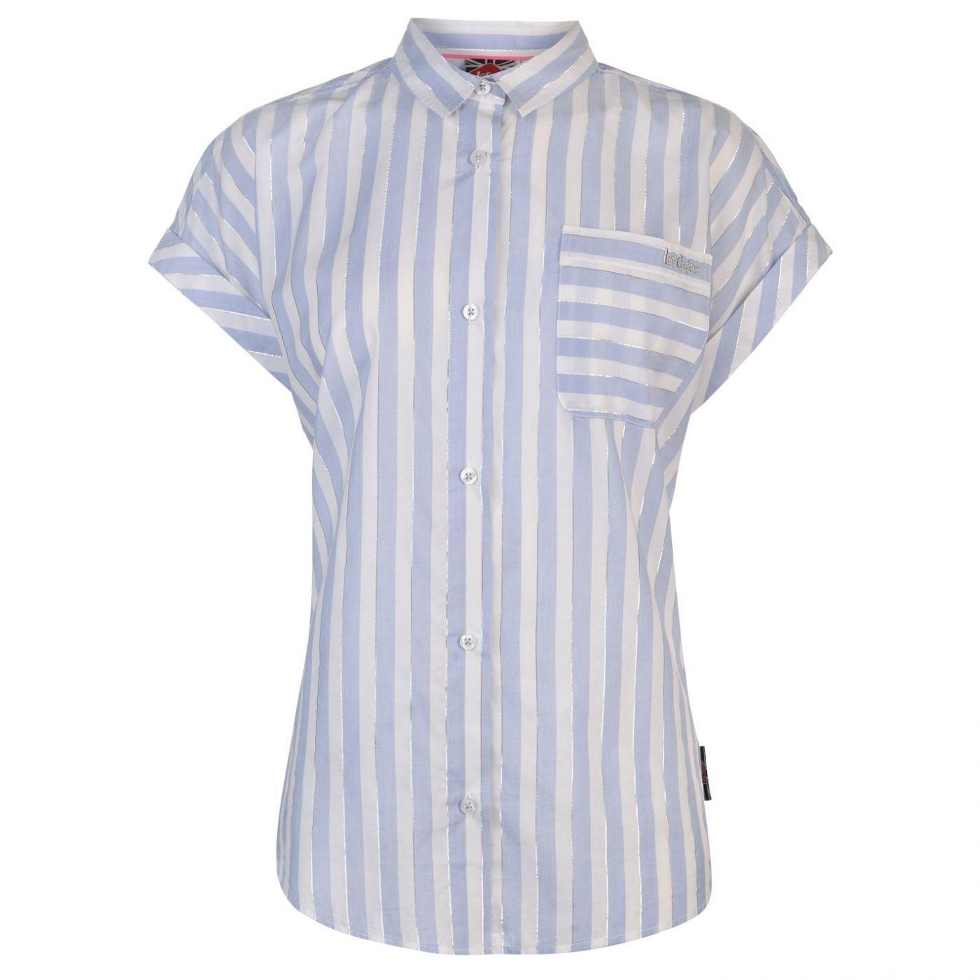 Lee Cooper Short Sleeve Casual Stripe Shirt Ladies