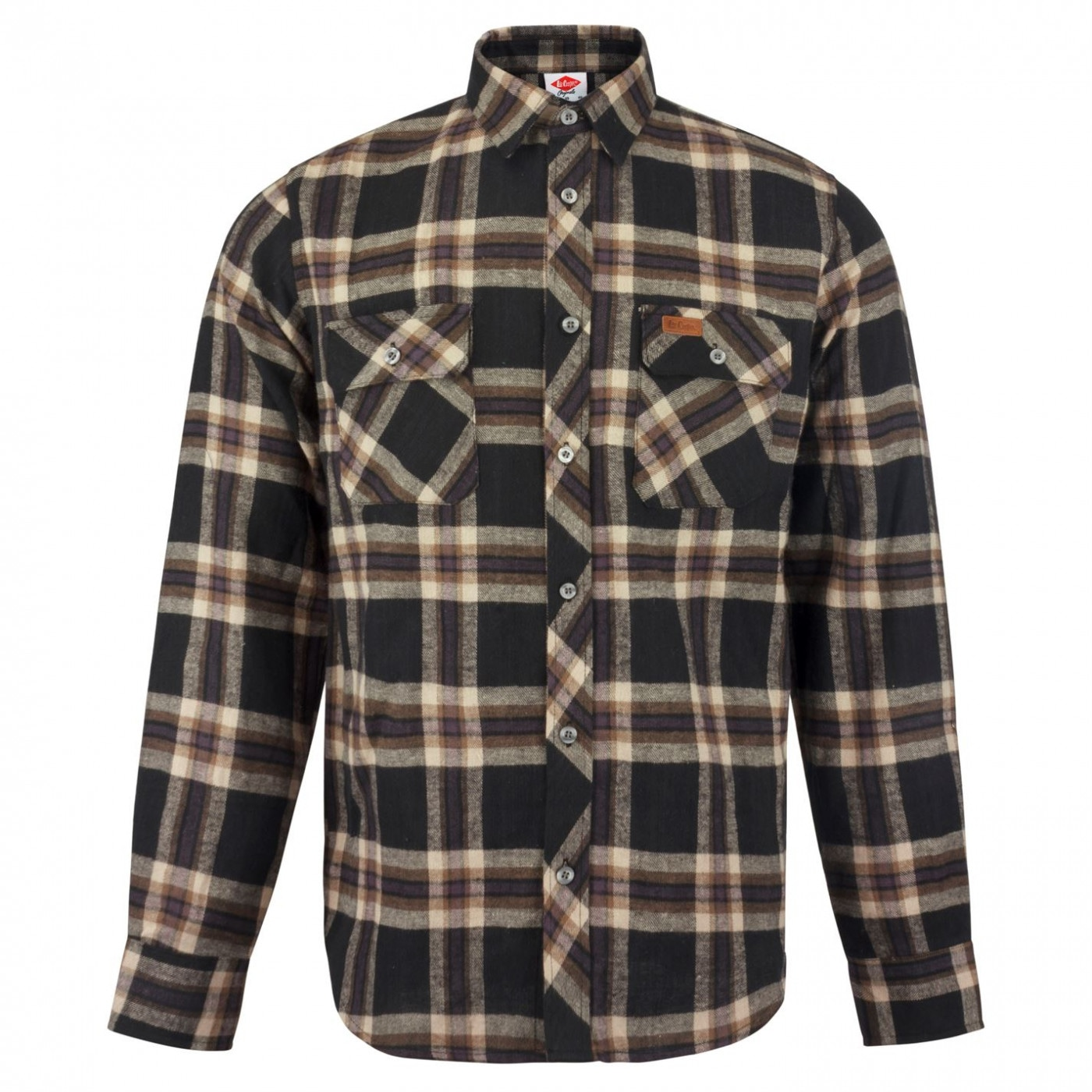 Lee Cooper Slim Fit Check Shirt Mens