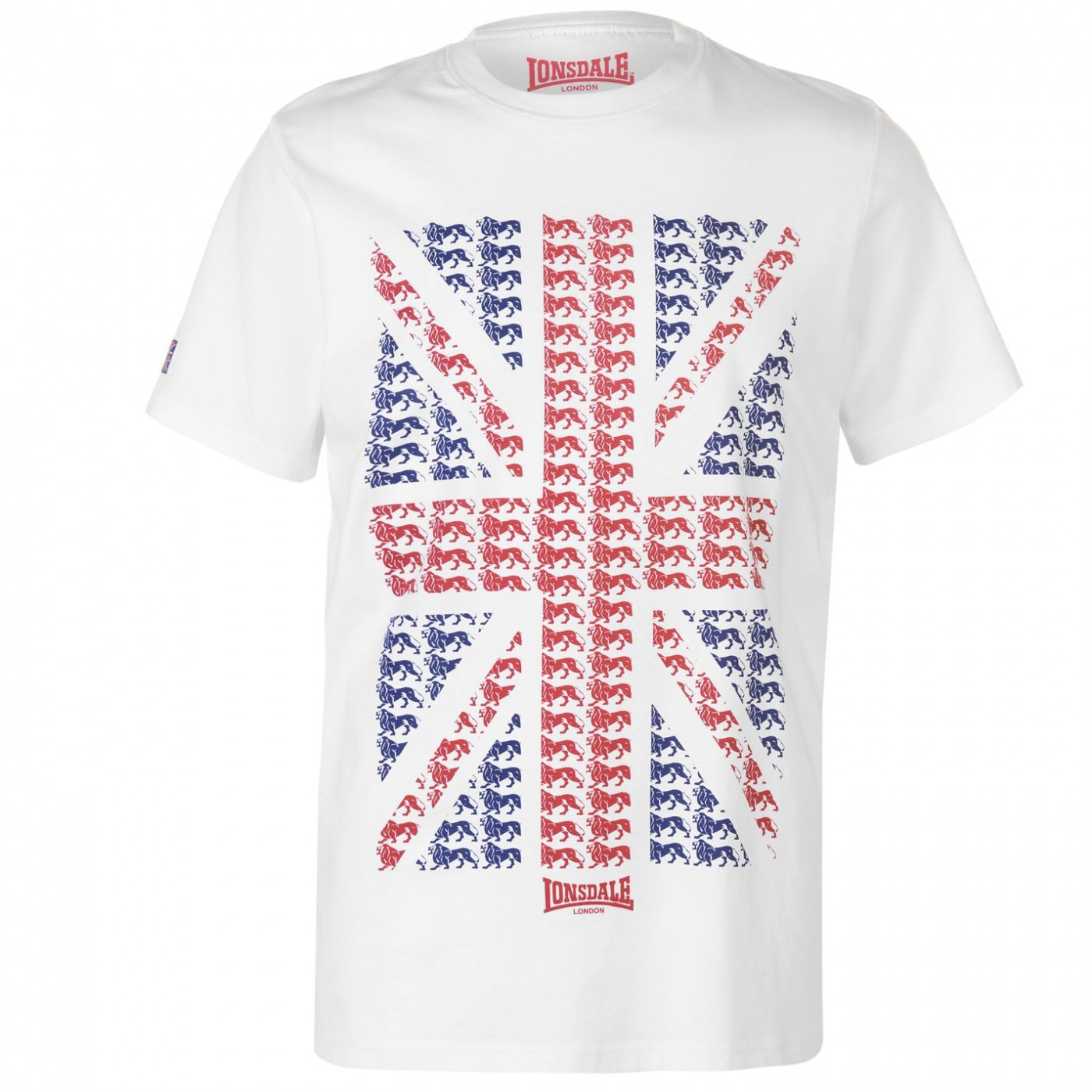 Lonsdale LDN Flag T Shirt Mens