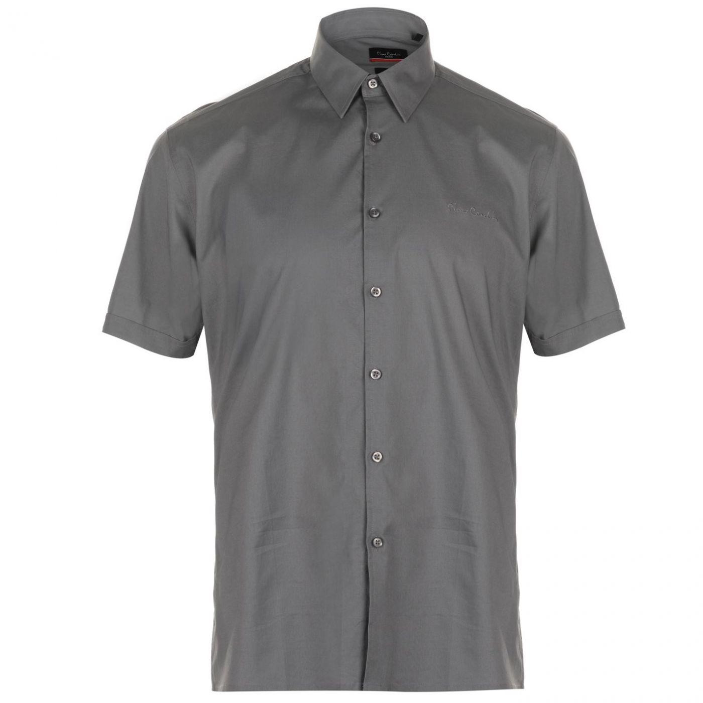 Pierre Cardin Slim Fit Short Sleeve Shirt Mens