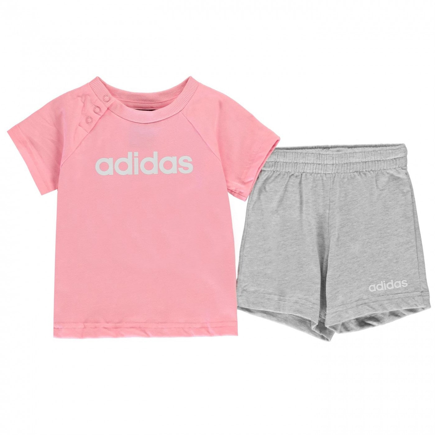 Adidas T Shirt and Shorts Set Baby Girls
