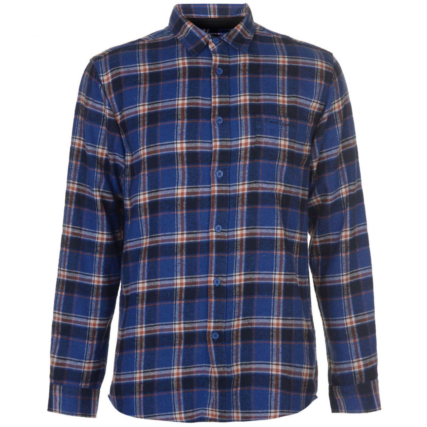 Pierre Cardin Long Sleeve Flannel Shirt Mens