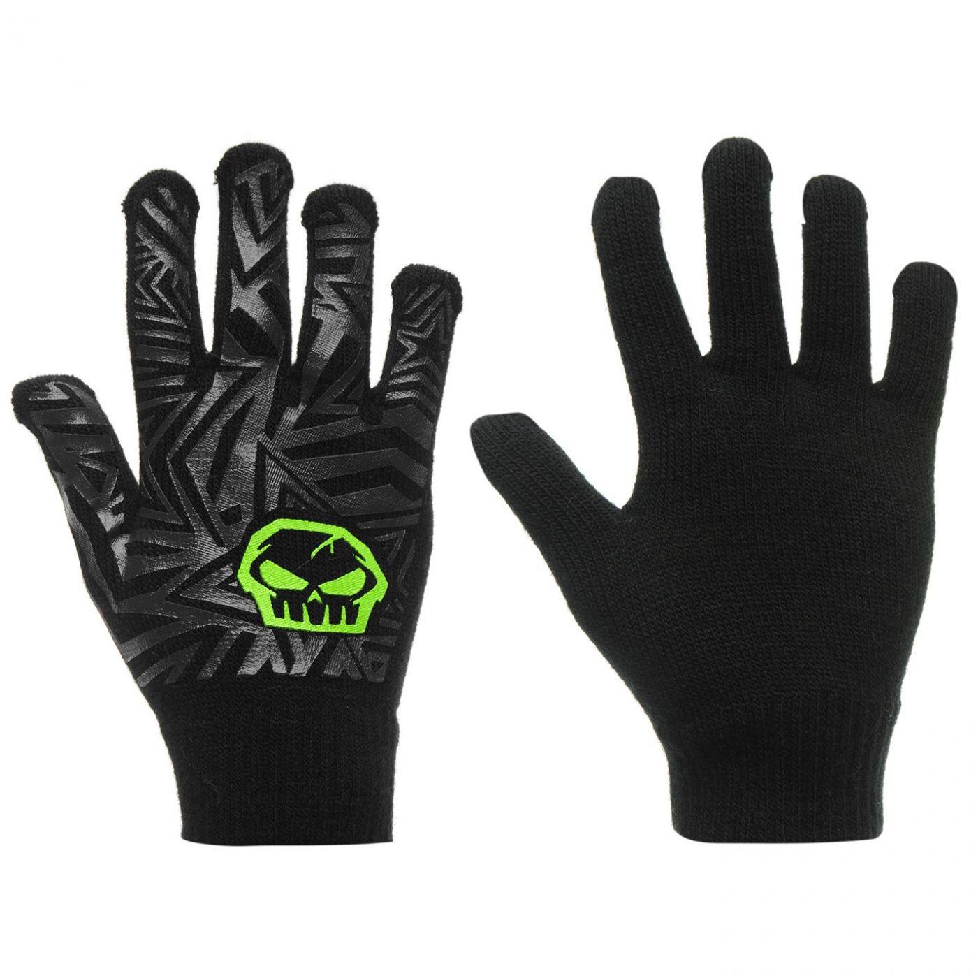No Fear Print Gloves Junior Boys