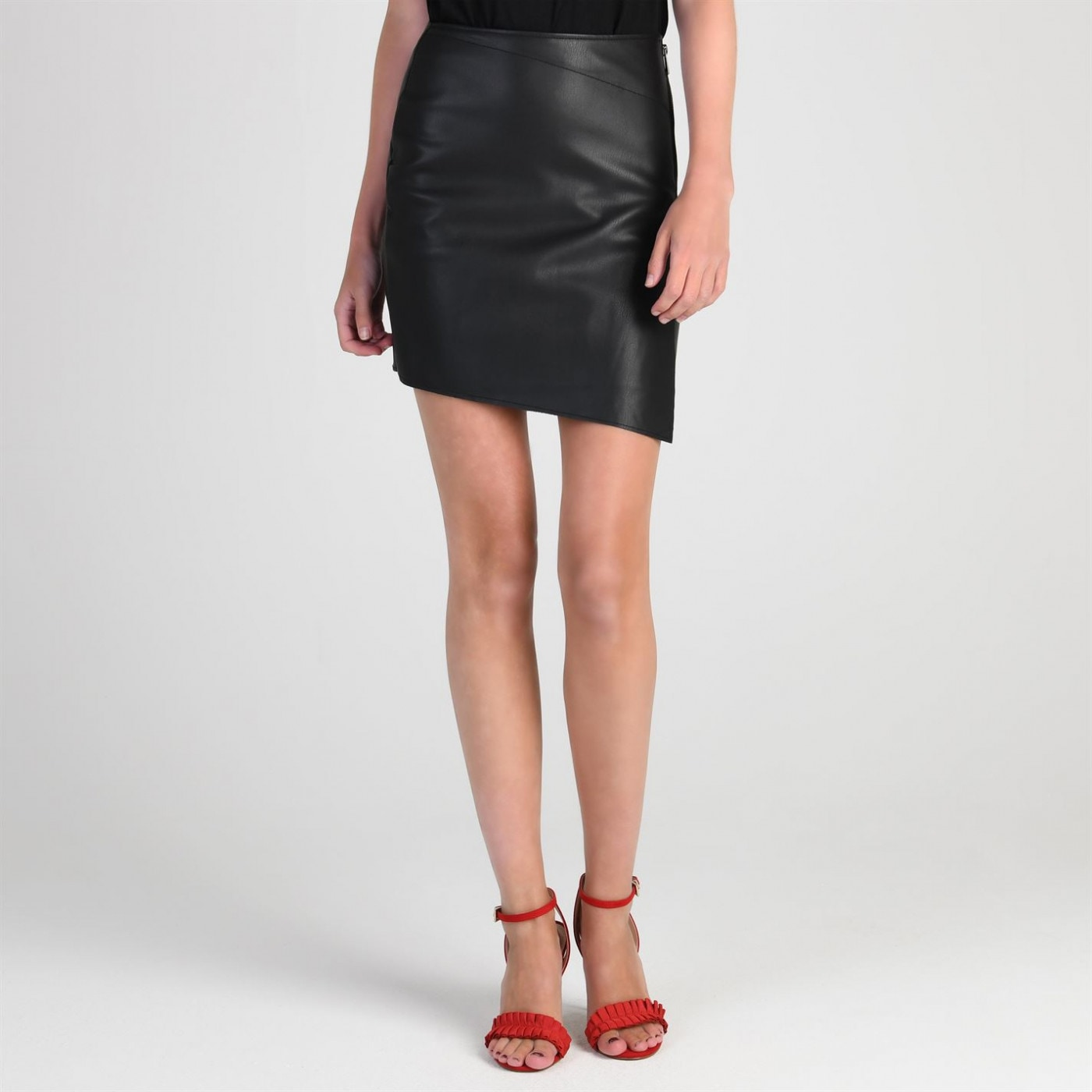 Firetrap Blackseal PU Skirt