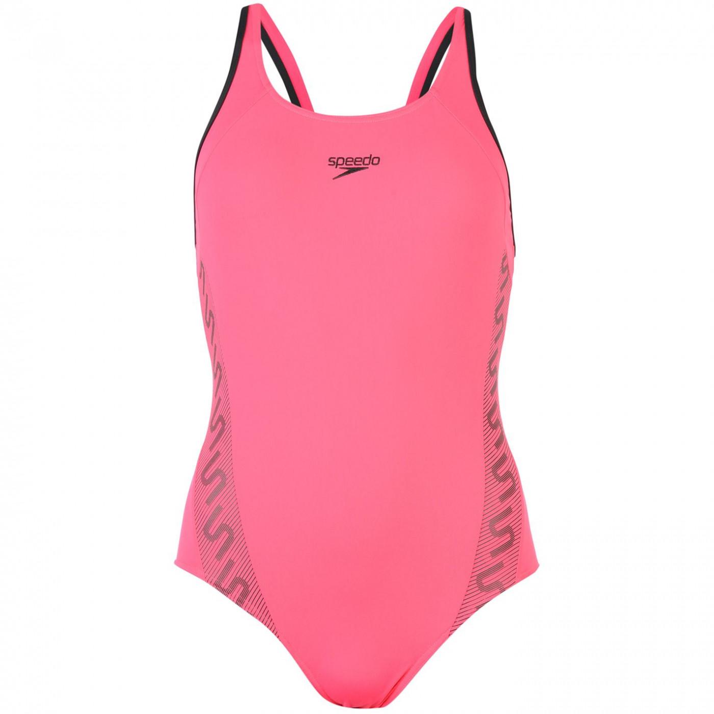 Speedo Monogram Muscle Back Swimsuit Ladies