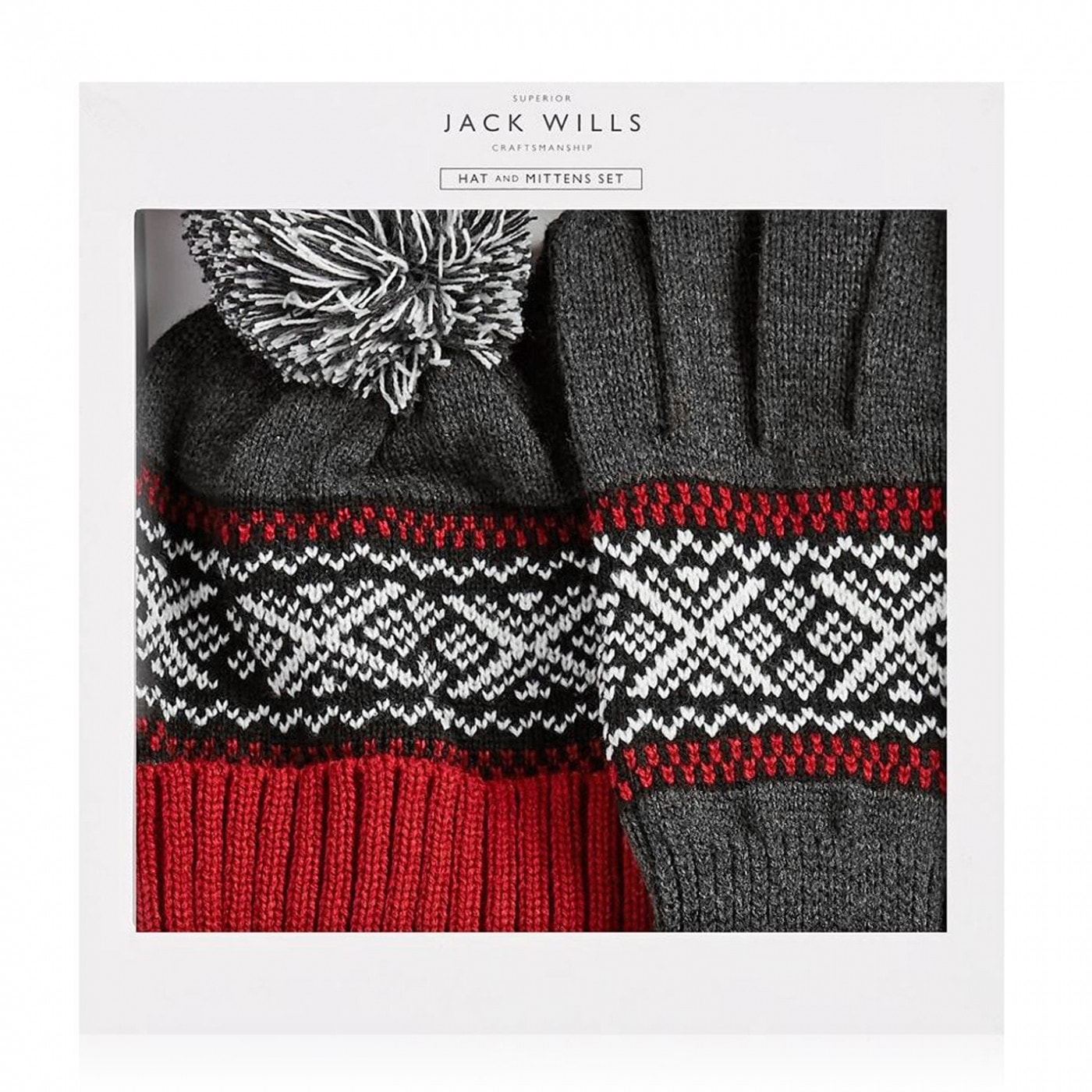 Jack Wills Wythop Fairisle Hat And Glove Set