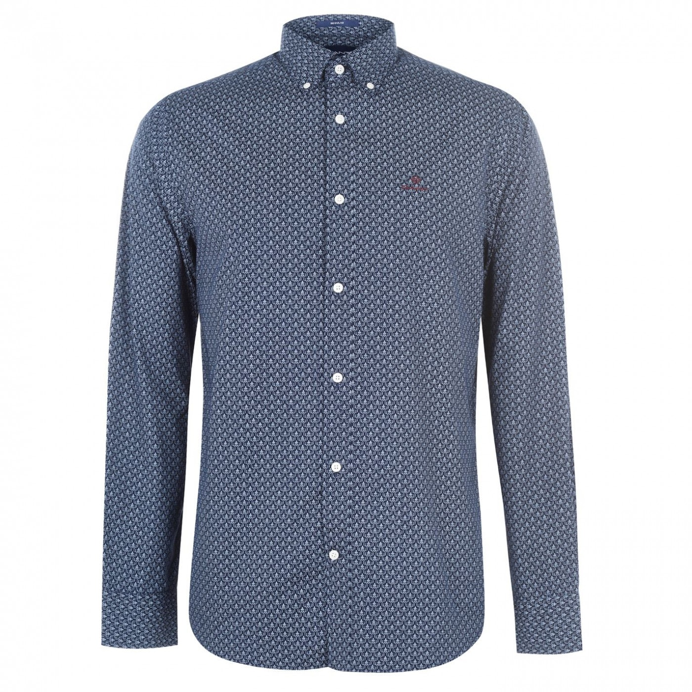 Gant Micro Print Long Sleeve Shirt