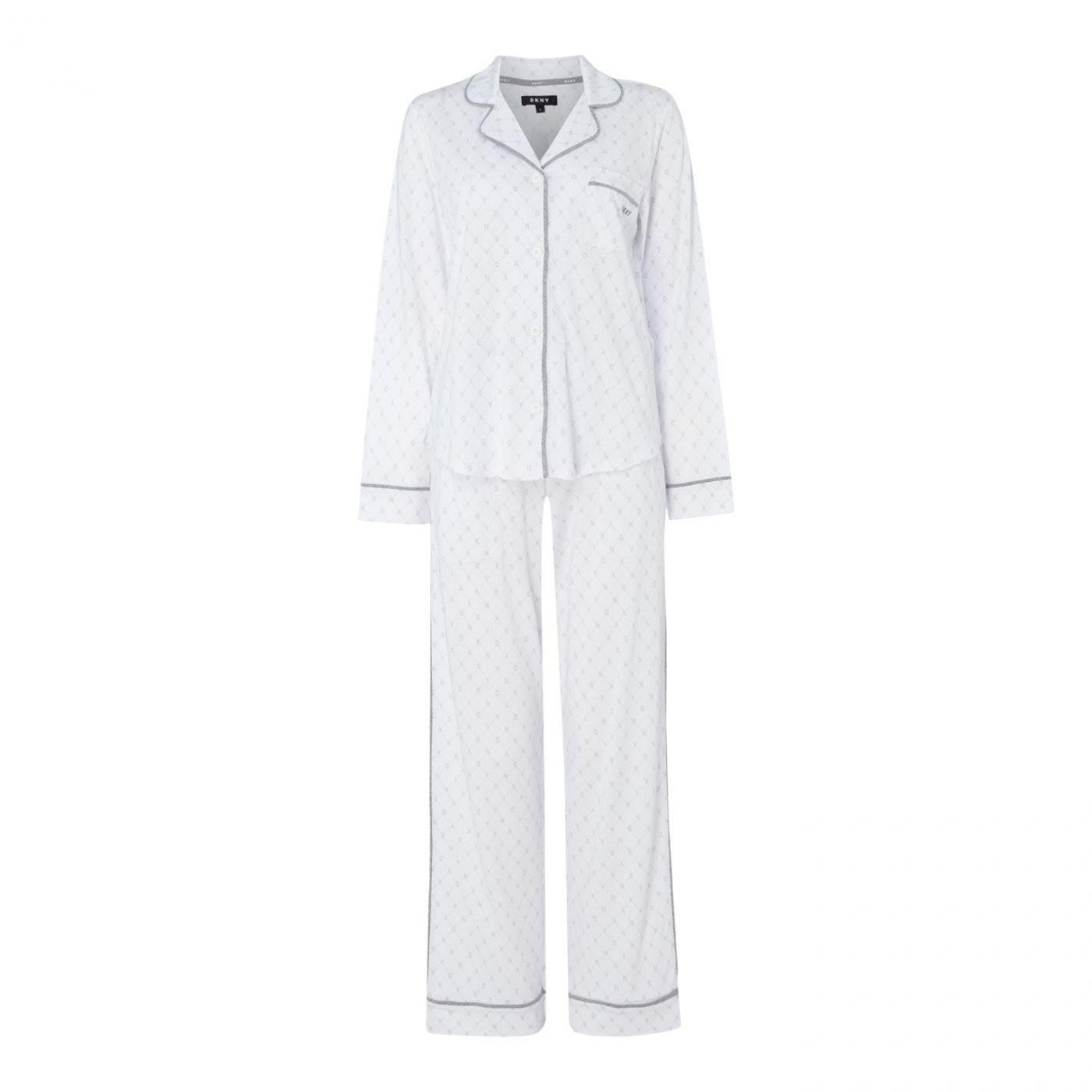 DKNY Signature long sleeve top and pant set