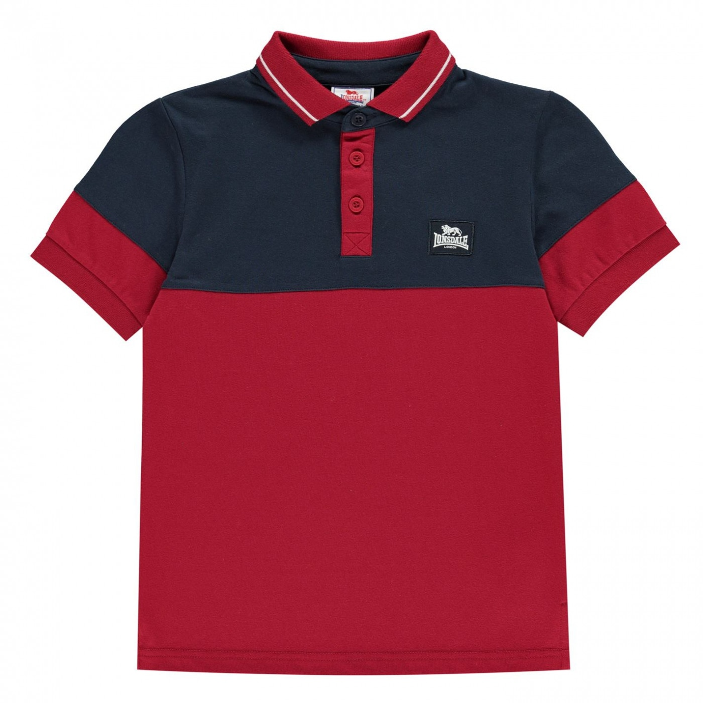 Lonsdale Cut and Sew Jersey Polo Shirt Juniors Boys