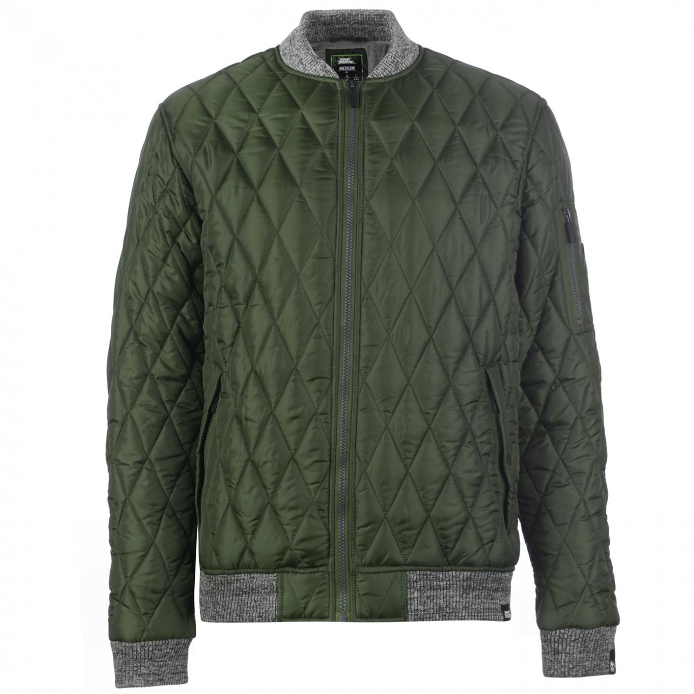 346872733 No Fear Quilted Bomber Jacket Mens - FACTCOOL