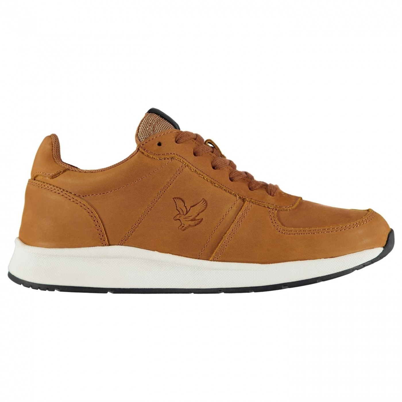 Lyle and Scott Speedie Leather Trainers Mens
