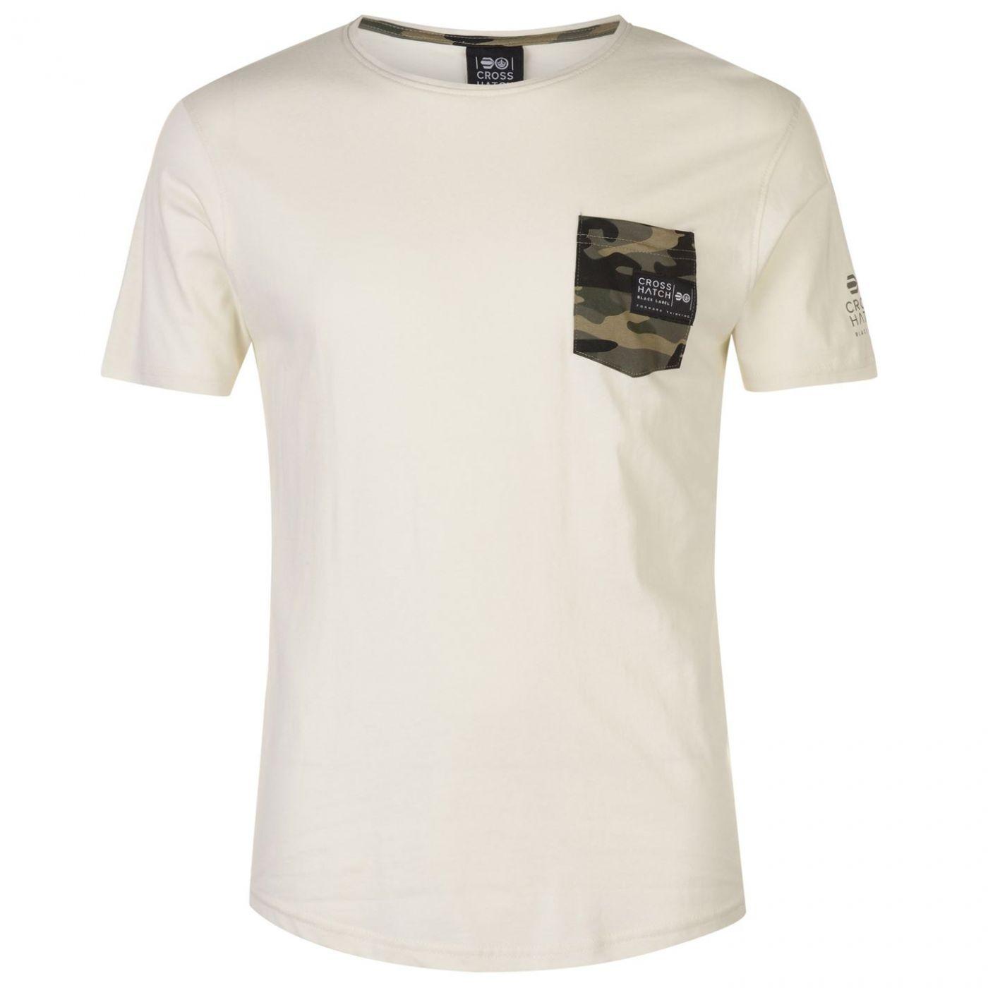 Crosshatch Seedley Pocket T Shirt Mens