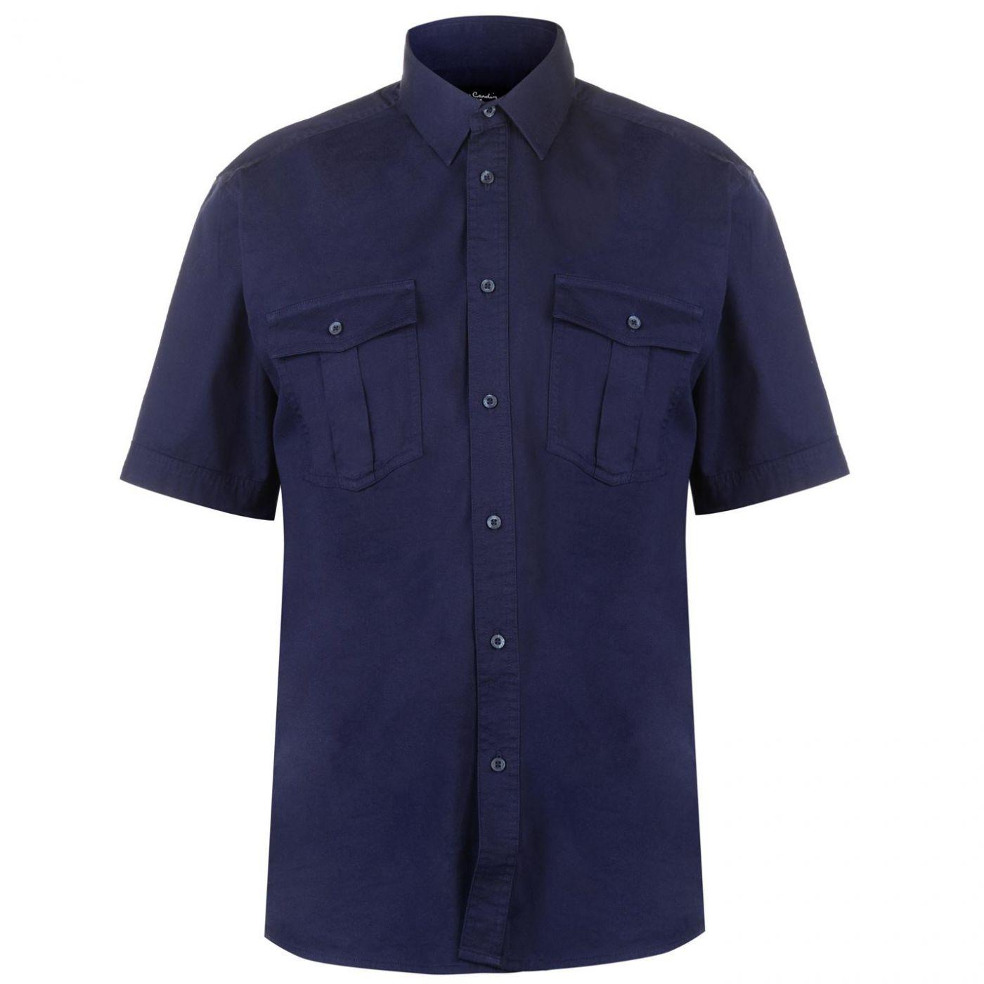 Pierre Cardin Military Short Sleeve Shirt Mens