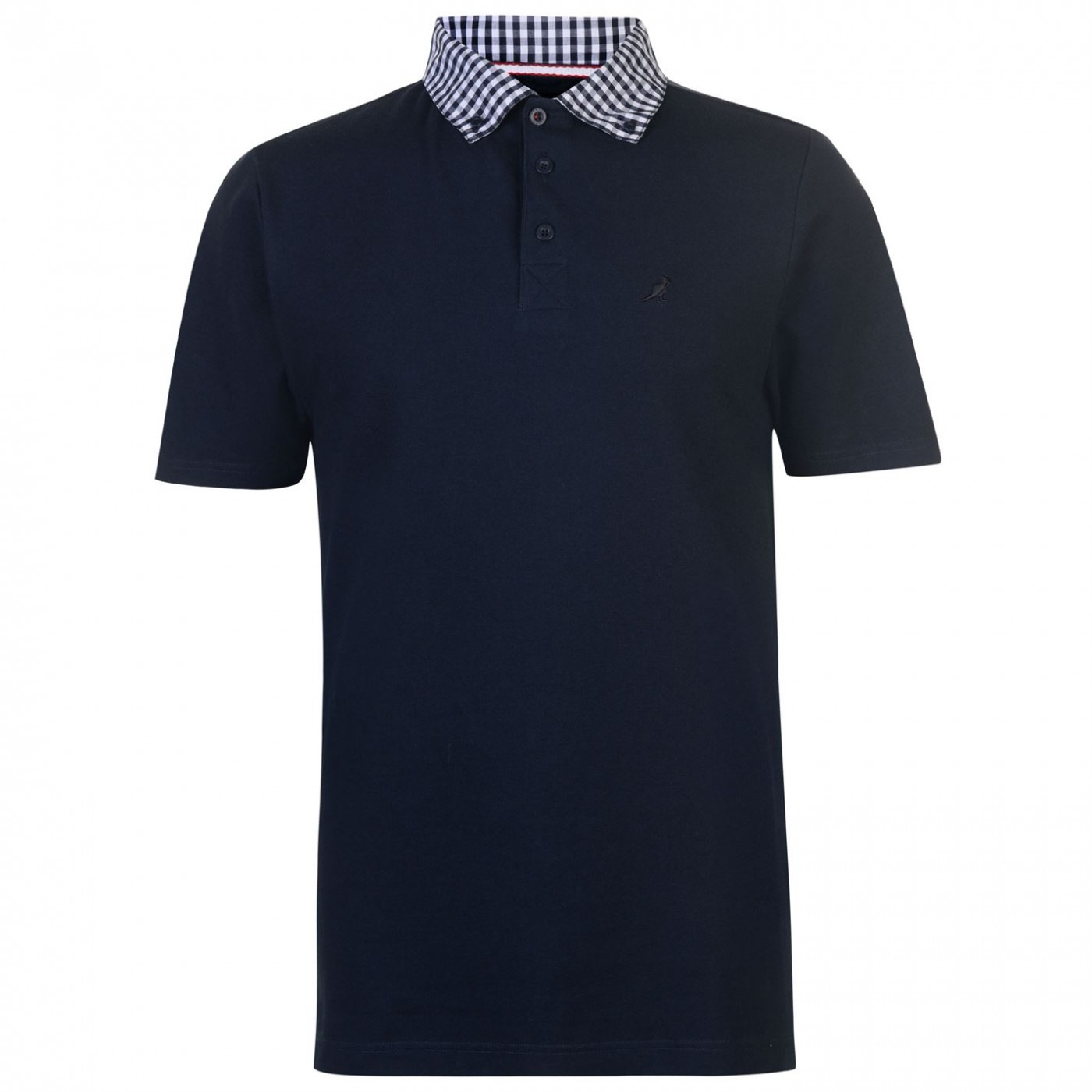 Kangol Checked Collar Polo Shirt Mens