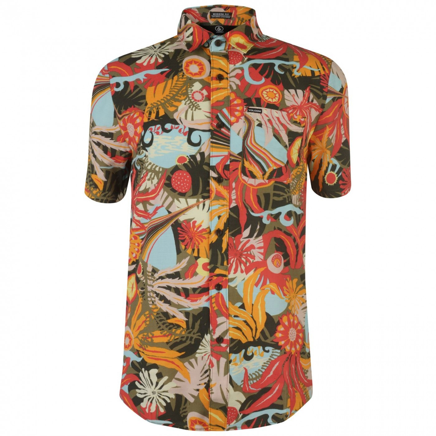 Volcom Mens Psych Floral Short Sleeved T-Shirt