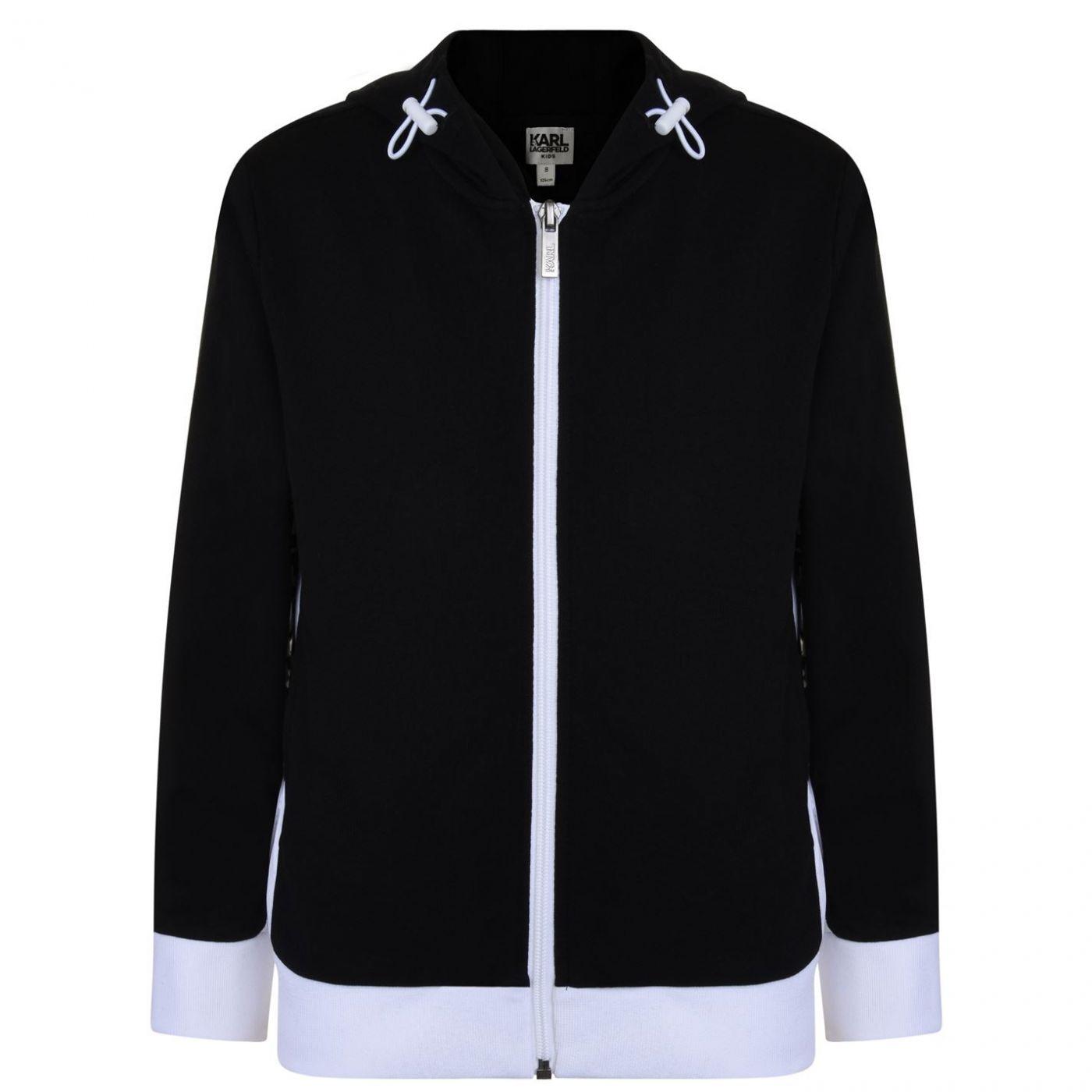 Karl Lagerfeld Boys Zip Hooded Sweatshirt