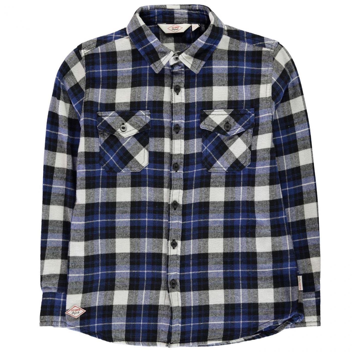 Lee Cooper Flannel Long Sleeve Shirt Junior Boys